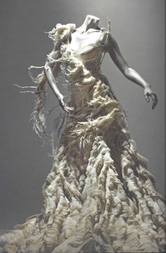 """Alexander McQueen """"Savage Beauty,"""" oyster dress. everyone remembers that kate moss moment."""