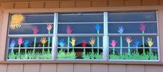 How to Decorate a Classroom Window for Spring - Bubblews