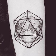 Can it get any better than this awesome geometric Earth tattoo?