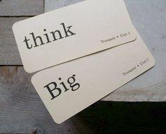 Vintage Flash Cards Think Big 1950s Flash Cards by 5gardenias, $4.00