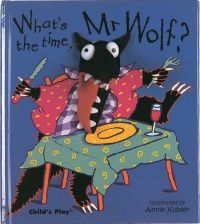 Another book as an option for the teacher to read to the classroom as a group activity to begin lesson for learning to tell the time. The teacher can read out aloud to the students and point out the time on each page in analog and digital format. Mr Wolf goes through the whole day on accordance with the time.