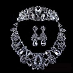 wedding gifts for bridal tiara necklace and earring set