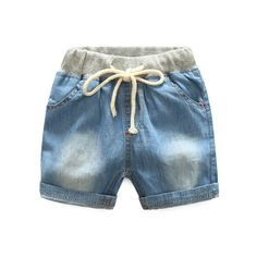 >> Click to Buy << 2017 Toddler Boy Jeans Ripped Jeans Denim Shorts children's shorts Summer Drawstring curled short Pants for boys free shipping #Affiliate