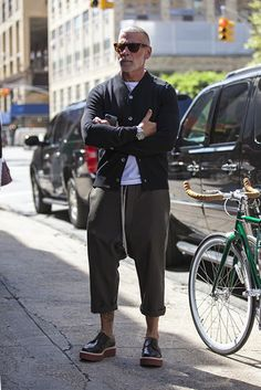 Man in Pink | Nick Wooster Cropped Pants Like our FB page https://www.facebook.com/effstyle