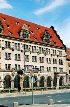 Palace of Justice in Nuremberg where war crimes trial was held - Nürnberg, Germany