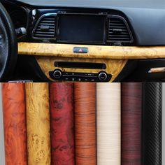 30*120 CM PVC Voiture Wrap Grain de Meubles En Bois De Voiture Film Interne Autocollants Étanche Auto-adhésif Autocollant De Voiture Car Styling