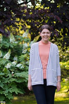 Sewing Like Mad: Driftless Cardigan and Paola Turtleneck Tee with Nosh Fabrics