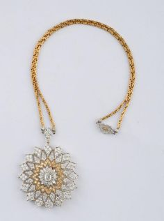 18K YELLOW AND WHITE GOLD AND DIAMOND PENDANT NECKLACE, GIANMARIA BUCCELLATI - Price Estimate: $5000 - $7000