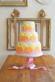 Orange yellow and light pink Cake (one of my favorites!!!!)