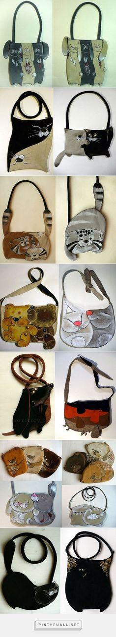 Bolsos con animalitos pintados