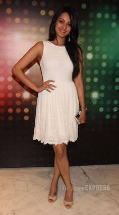 Model and actress Anita Hassanandani was a vision in white at Screen Big Picture event. #Bollywood #Fashion #Style