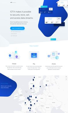 IOTA makes it possible to securely store, sell, and access data streams. Minimal Web Design, Web Ui Design, Page Design, Website Design Layout, Web Layout, Web Design Websites, Marketing Software, Mobile Marketing, Tips & Tricks