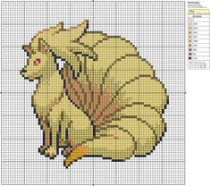 Click the image to enlarge, right click and select Save As to download the pattern. To see what it'll look like stitched, check out what other people have made below. Ninetales #38 by ~LeeLeeG2 on deviantART