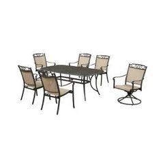 Hampton Bay Santa Maria 7 Piece Patio Dining Set S7 ADQ10800 At The