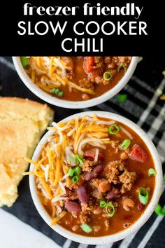 Slow Cooker Beef Chili is a classic chili recipe with one special ingredient that makes it THE BEST chili recipe I've ever made! This chili recipe can be made right away in the slow cooker, or it can be made into a freezer meal for an easy weeknight dinner any time! Classic Chili Recipe, Best Chili Recipe, Chili Recipes, Soup Recipes, Dinner Recipes, Camping Meals, Freezer Meals, Easy Weeknight Dinners, Easy Meals