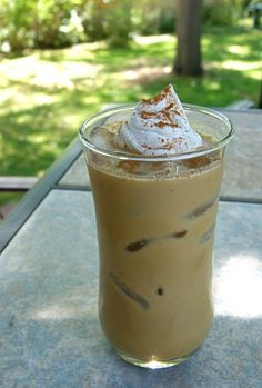 Paleo Pumpkin Iced Latte (basically cool coffee and blend with milk and pumpkin!!!!!)