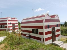 {Hello Kitty houses?} on Cat Island, by hirano_sui, via Flickr - totally cool!
