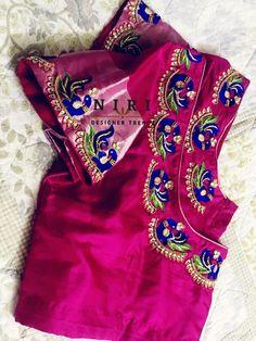 Cutwork Blouse Designs, Wedding Saree Blouse Designs, Best Blouse Designs, Pattu Saree Blouse Designs, Simple Blouse Designs, Blouse Neck Designs, Designer Blouse Patterns, Designer Dresses, Maggam Work Designs
