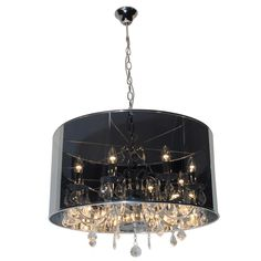Eurolux - 8 Light Round Inside Out Crystal Chandelier with Adjustable Chain Suspension Interior Design Inspiration, Home Interior Design, Round Crystal Chandelier, Contemporary Chandelier, Inside Out, Black Glass, Glass Shades, Home Remodeling, Mid-century Modern