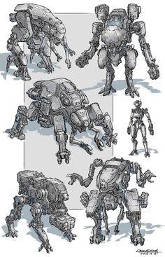 Diseños de Robot por Dongshen Li    ¿Son los Mechs Inútiles en el Campo de Batalla?