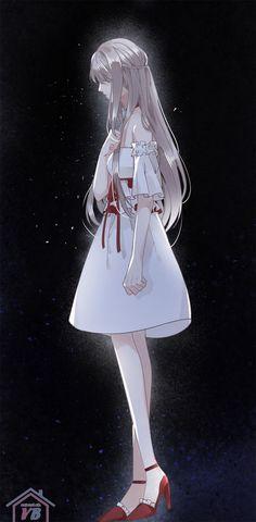 Being în a dark place Sad Anime Girl, Manga Anime Girl, Anime Girl Drawings, Kawaii Anime Girl, Anime Girls, Anime Angel, Fan Art Anime, Anime Crying, Animes Yandere