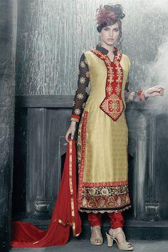 Opulent Beige Color Georgette Salwar Kameez