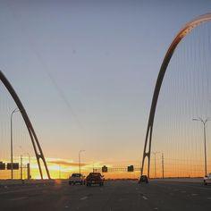Aqui está um #sunset na #bridge do #calatrava em #dallas #tx #shotoniphone