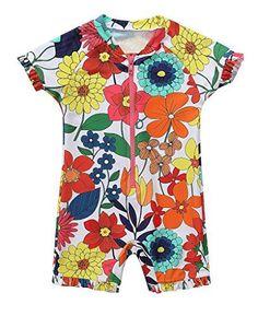 0f48f8c5d4 BeautyIn Baby Girls Cute Floral Rash Guard UPF50+ One Pie... https:/