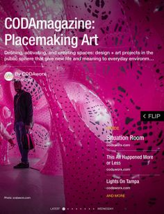Placemaking Art. Includes street art, public art, private exhibits. Projects create and define space with art.