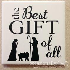 Easy Vinyl Tile: Frugal Christmas Gifts!