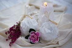Tunnelmalliset kynttilät   #kynttilä, #kynttilät, #rustiikkikynttilä, #antiikkikynttilä http://www.salonsydan.fi/tuote/8-cm-lumipallokynttila/