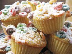 Fruit Loop Cupcakes!