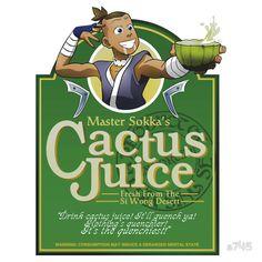Master Sokka's Cactus Juice  http://www.redbubble.com/people/a745/works/8853232-master-sokkas-cactus-juice?p=sticker