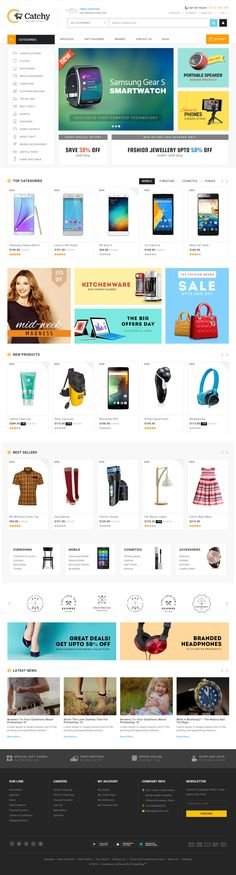 Catchy is Premium full #Responsive #PrestaShop eCommerce Theme. Retina Ready. Google Fonts. #SEOOptimized. Unlimited Banners. Test free demo at: