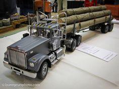 White Log Truck