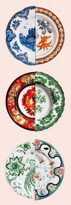 Seletti East meets West plates - heard about these in Tracy Lynch's report back on Maison et Objet Paris fair at the Lifestyle Trends 2012 talk at Freeworld Design Centre...  I want them.
