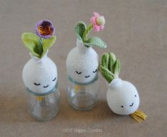 Spring bulbs amigurumi by Happy Coridon