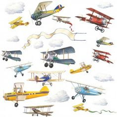 Planes Wall stickers, boys wall stickers,wall stickers with planes | Becky & Lolo