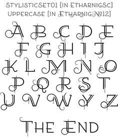 Free fonts EtharnigSc & by Grzegorz Luk, via Behance Hand Lettering For Beginners, Hand Lettering Styles, Creative Lettering, Cool Lettering, Script Lettering, Graffiti Lettering, Handwritten Fonts, Lettering Design, Lettering Tattoo