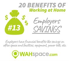 Great benefits can come along to companies when their employees work at home #workathome #workfromhome #wahspace