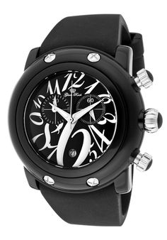 Special Offers Available Click Image Above: Glam Rock - (women's) - Black Polyurethane/black Rock Watch, Grocery Deals, Rebel Fashion, Luxury Watches For Men, Glam Rock, Cool Watches, Chronograph, Bracelet Watch, Miami Beach