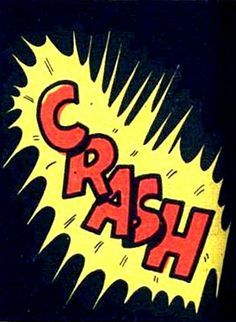 Crash!  Vintage Comic, Pop Art