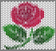Rose Peyote Stitch by faithwearspurple, via Flickr