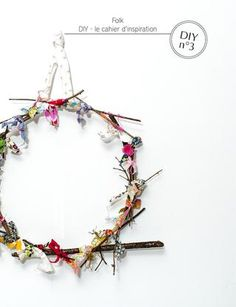 scrap fabric wreath -Plumetis magazine issue 12