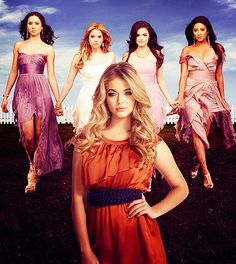 Pretty Little Liars<3 Alison, Spencer, Hanna, Aria, and Emily