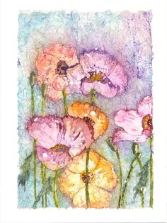 A group of poppies showing their beautiful colors by CarolesStudio, $20.00