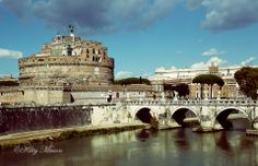 Crossing the Tiber. Rome, Italy