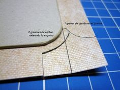 "Bookcloth on round corners (en español) - <a class=""pintag"" href=""/explore/bookbinding/"" title=""#bookbinding explore Pinterest"">#bookbinding</a> tutorial"