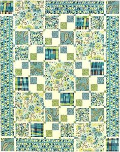 Big EZ quilt pattern.  I'm not wild about the fabric used, but I like the pattern.