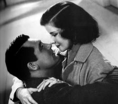 "Katharine Hepburn and Cary Grant in ""Holiday"" (1938)."